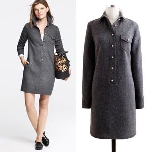 J.Crew Herringbone Shirt Dress